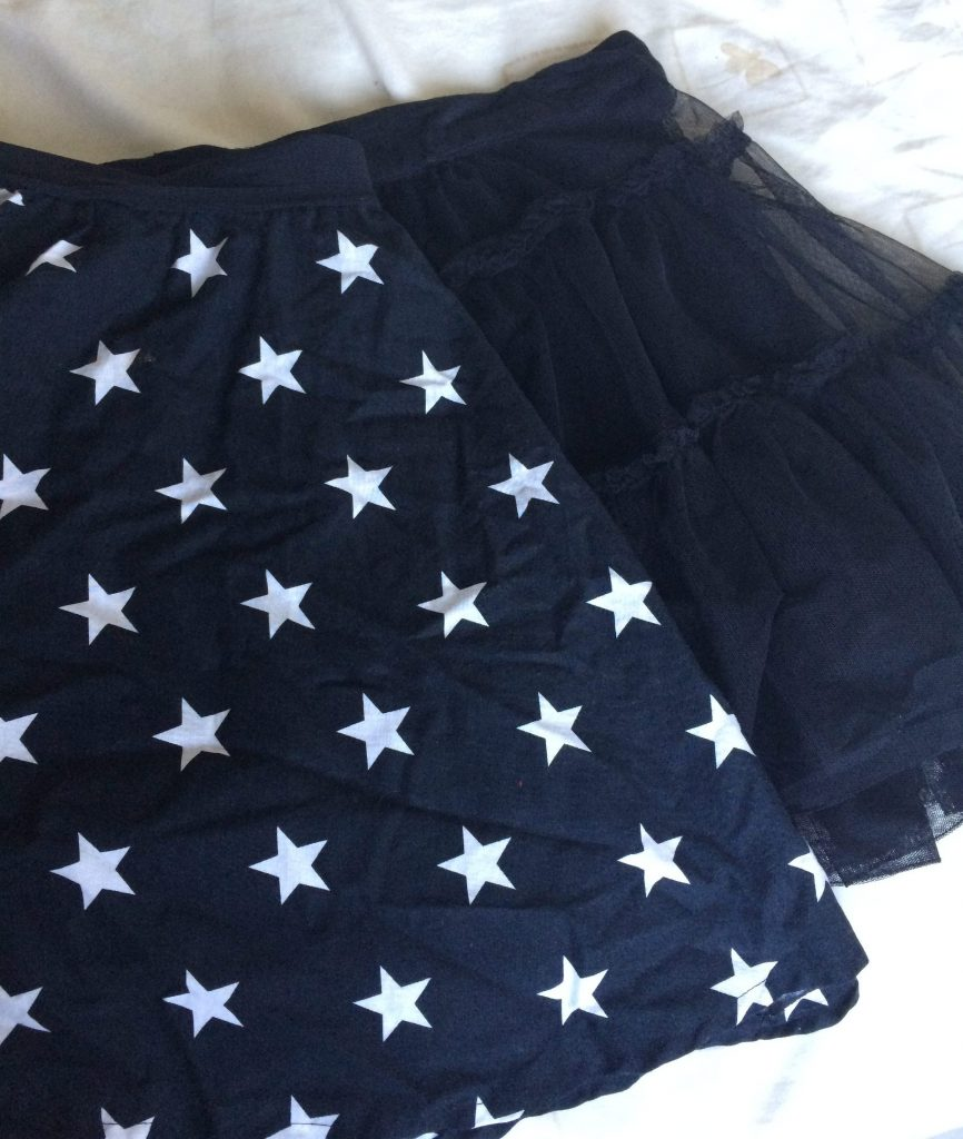 Star print circle skirt