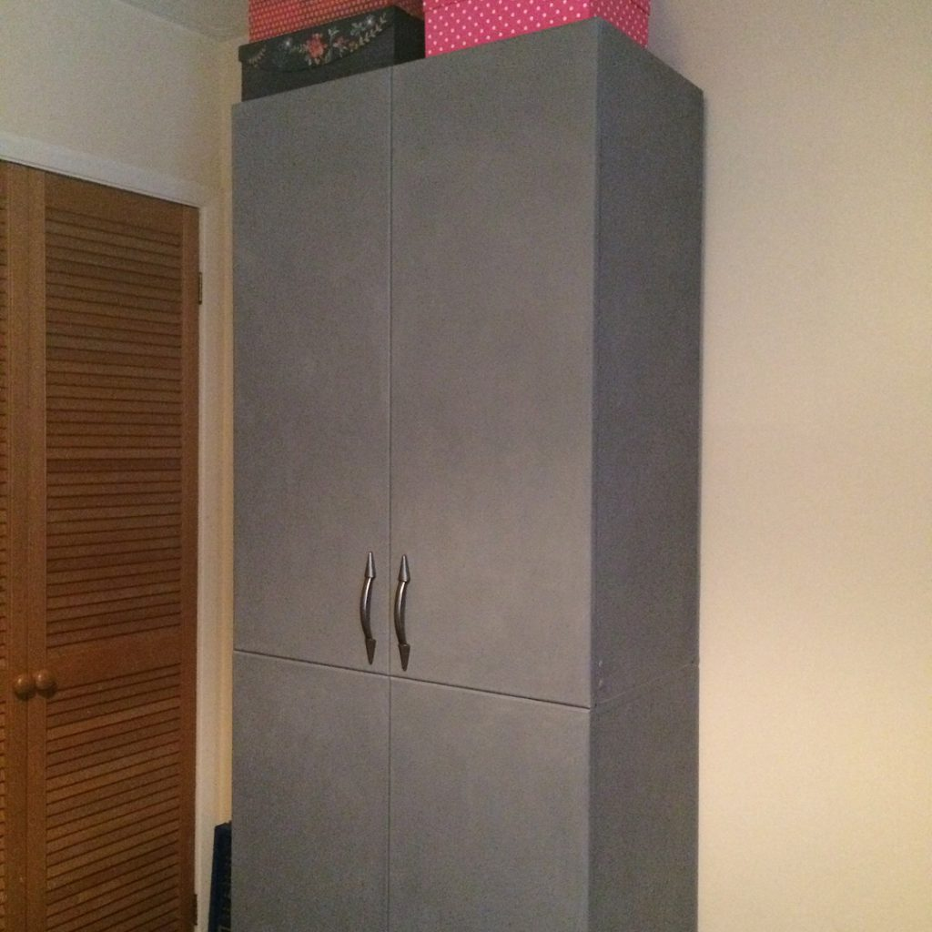 Upcycled Craft Cupboard ext