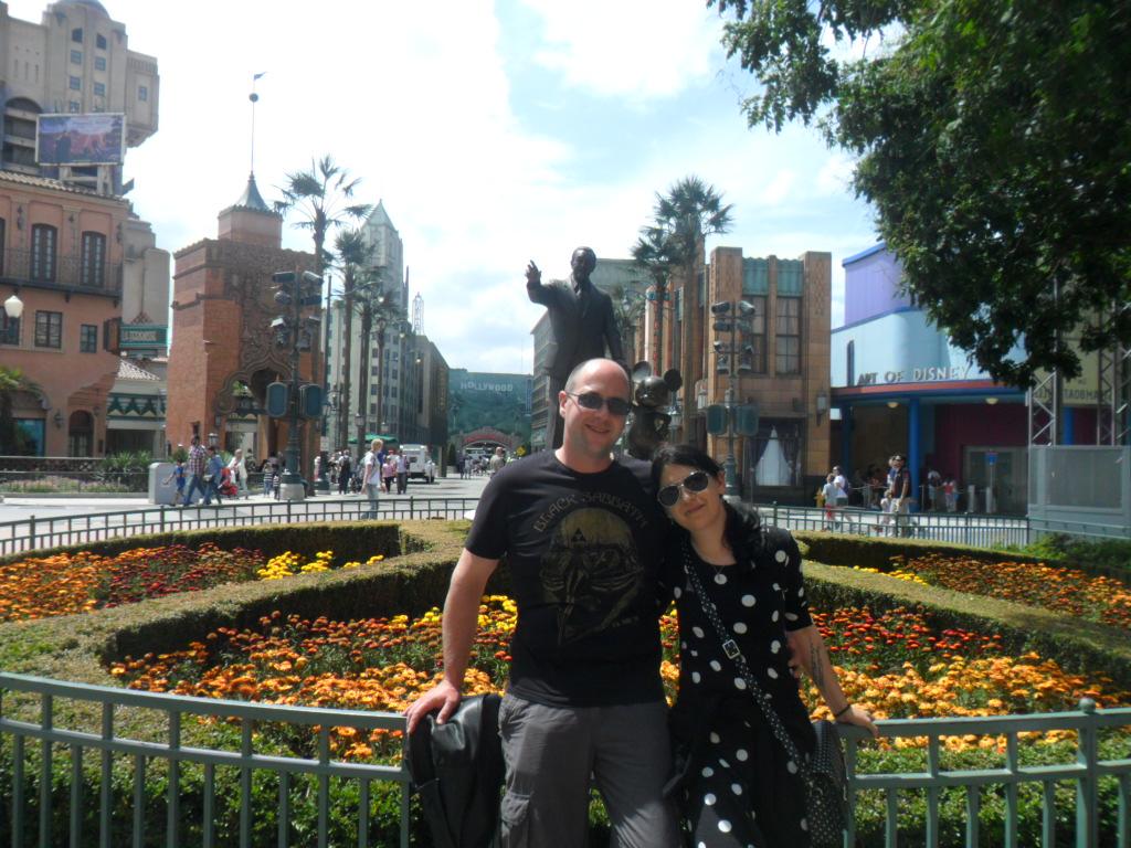 Disney Magic - Stu and Kay by the Walt statue in the Studios Park at Disneyland Paris