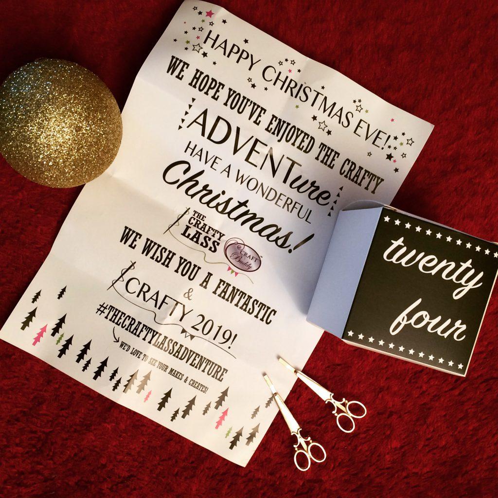The Crafty Lass ADVENTure advent calendar (24)
