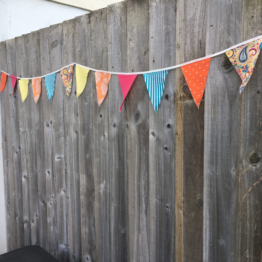 Pennant Flag Bunting in bright colours