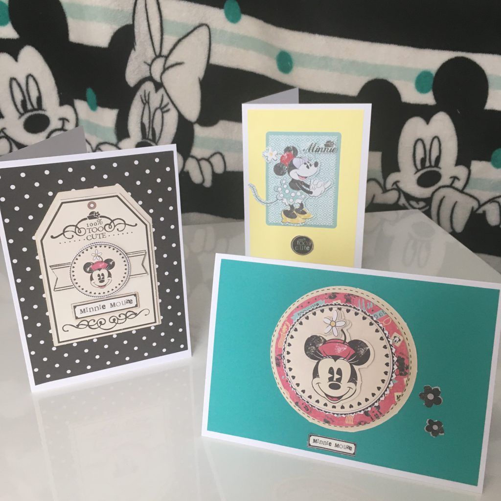 Handmade Disney Themed Cards - Minnie Mouse - The Craft Room and Beyond