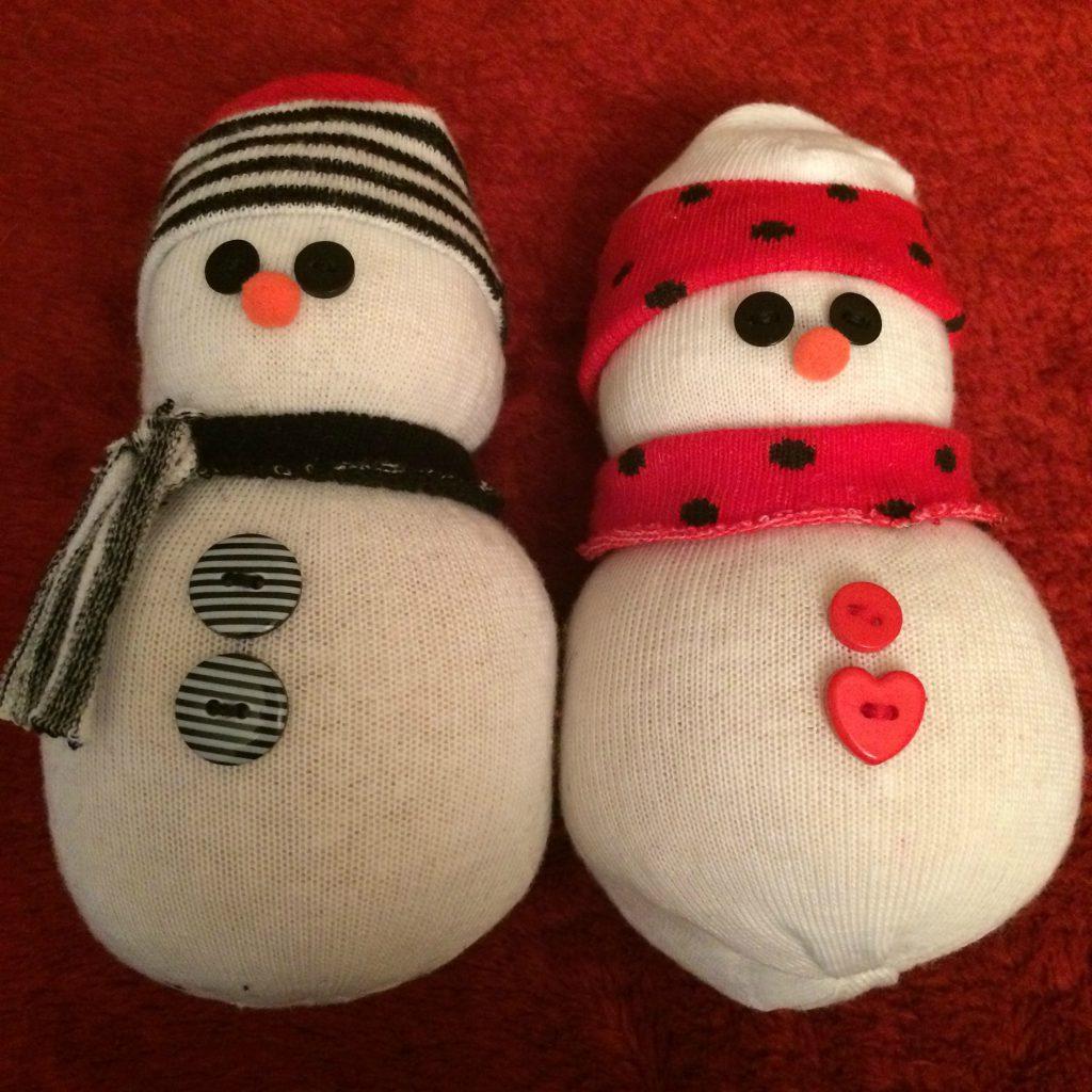 Sock Snowmen - Finished