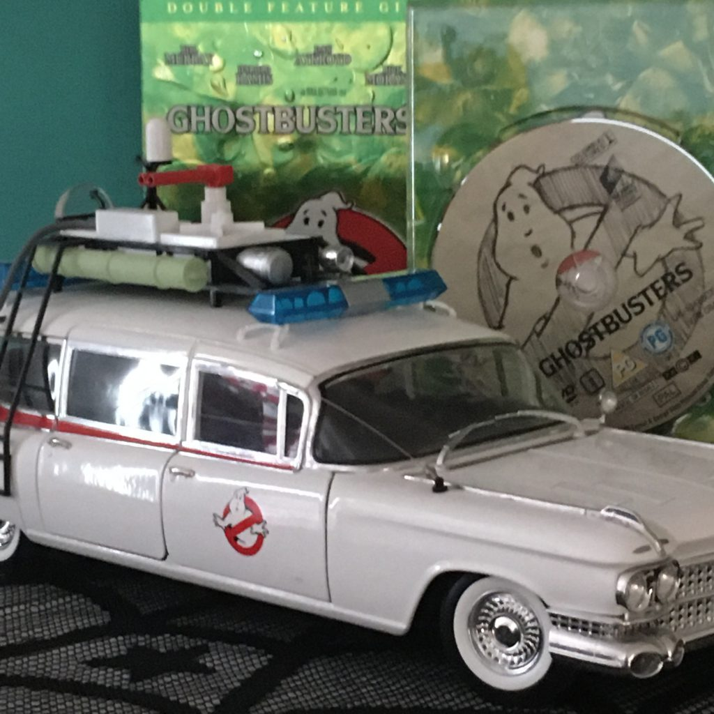 Halloween Movie Favourites - Ghostbusters DVD and Ecto 1 Model Car.