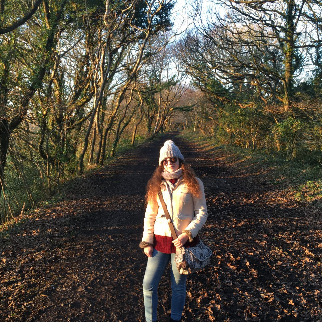 Me on the path of the Old Newham Railway Walk