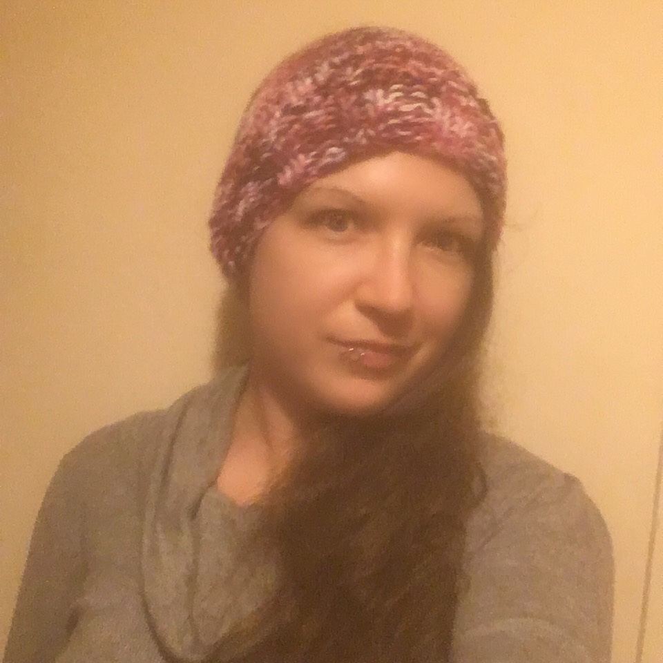Very Berry Knitting complete - Hat - hair down