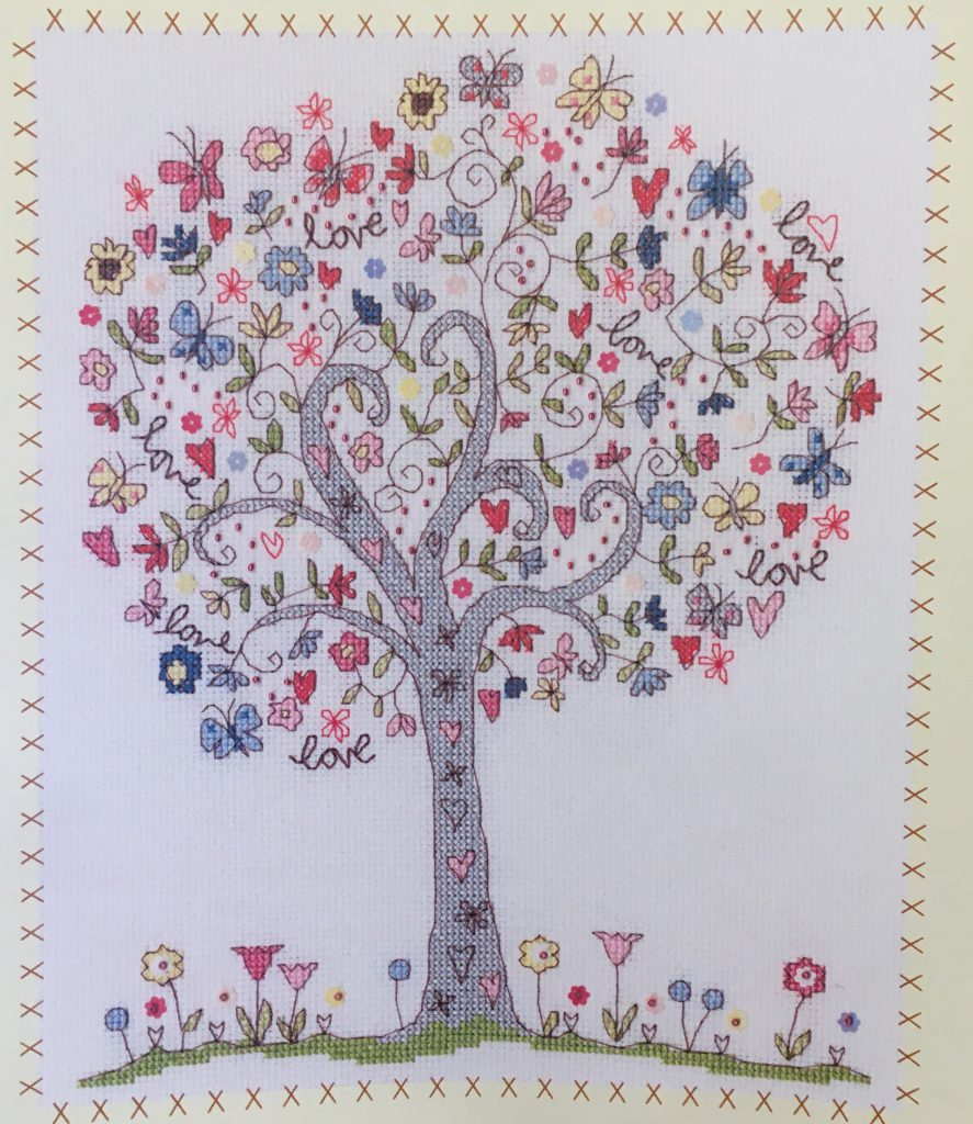 Love Tree Kit - Cover showing finished pattern