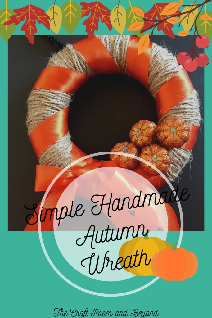 Simple Handmade Autumn Wreath - Please consider sharing