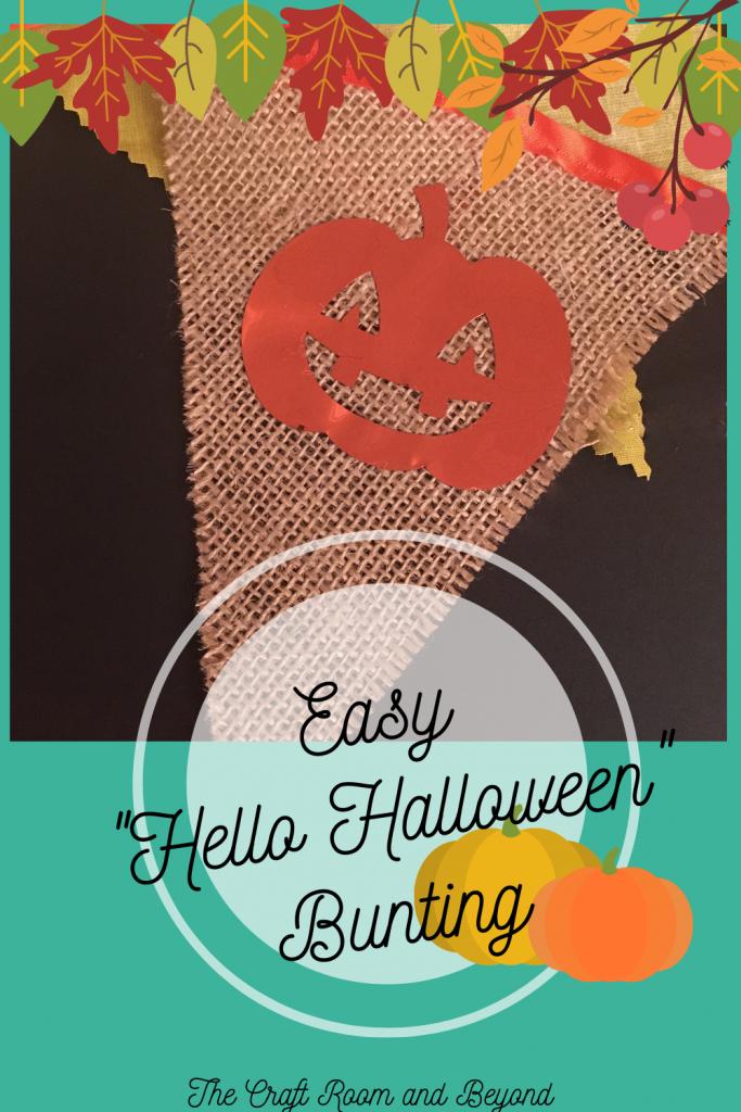 Happy Halloween Bunting! It's SEW easy!