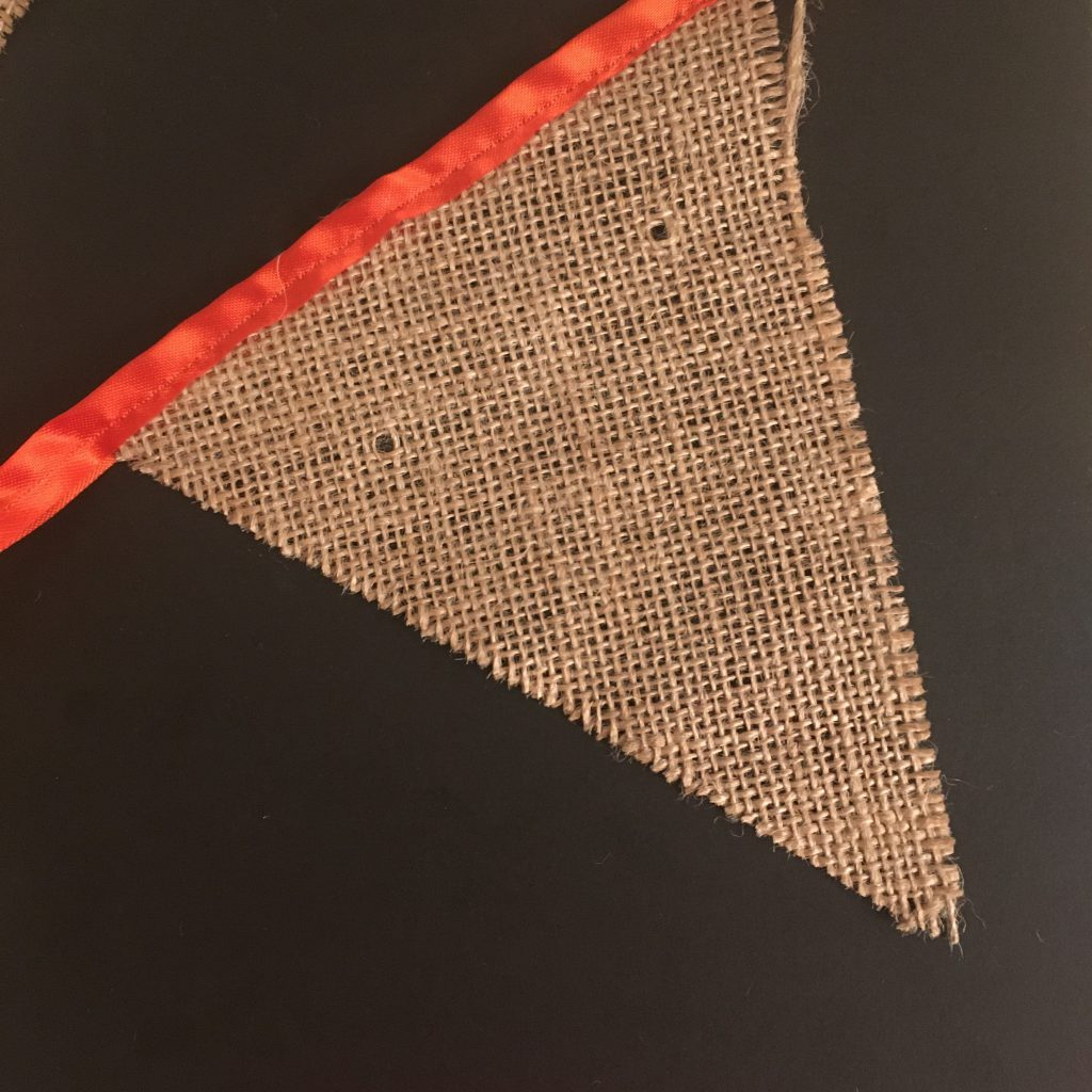 Hessiant Pennant Bunting