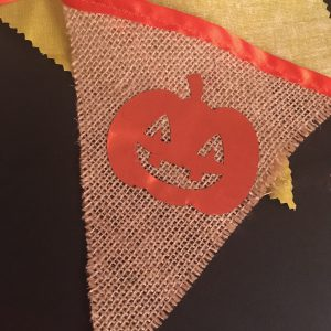 Jack 'o Lantern foil on bunting