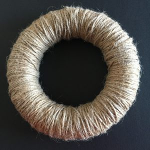 Twine-wrapped wreath ring