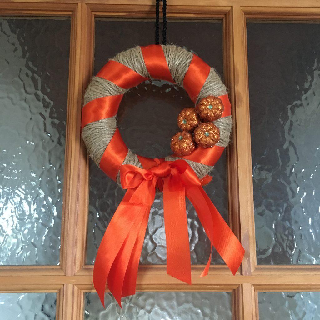 Finished autumnal wreath